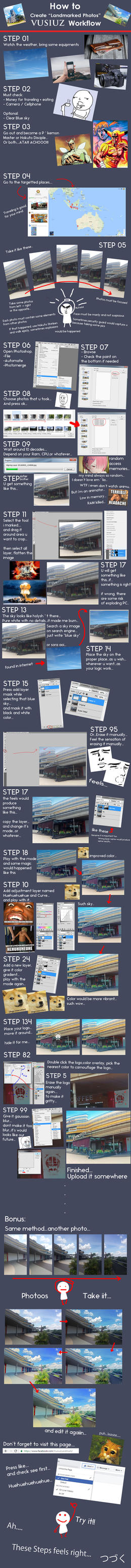 Vusiuz Workflow: How to Create Landmarked Photos! by Vusiuz