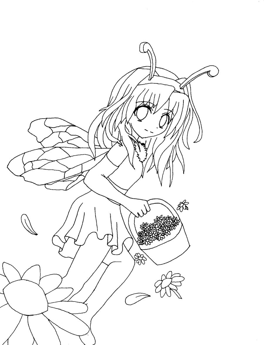 Line Art Bee : Bee line art by okamitenshi on deviantart