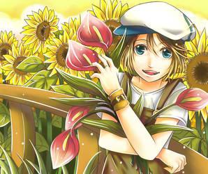 Sunflower Field by yami-izumi