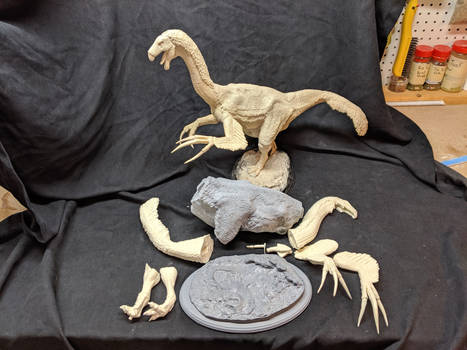 1/15th scale Therizinosaurus resin kit by DrJre77