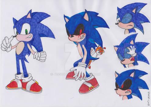 Sonic turning Evil