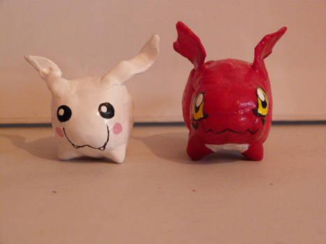 Digimon - tokomon and gigimon