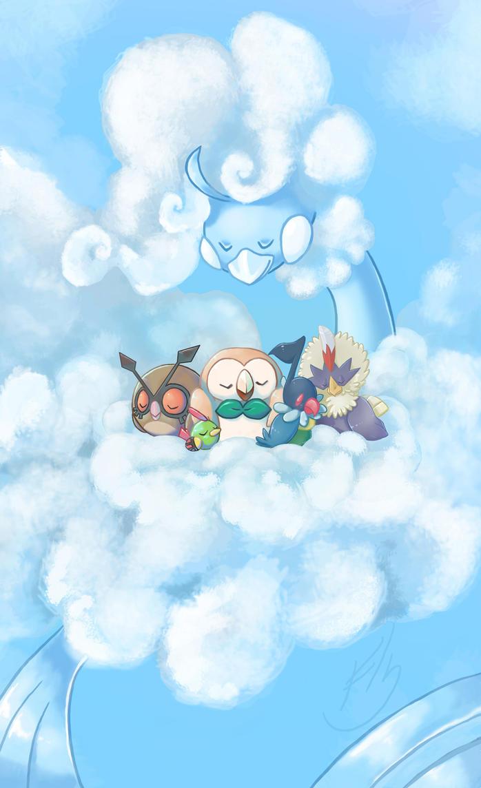 Sleepy Bird Pokemon by Pearlie-pie