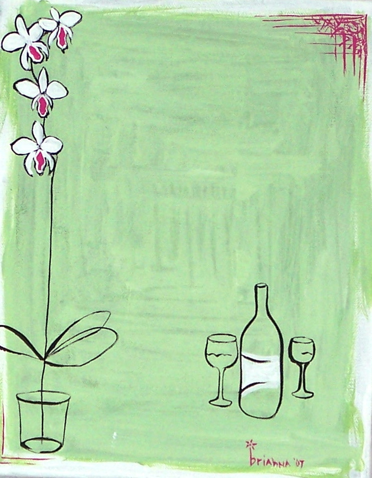 Wine and Orchids by fletcherbj