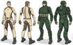 Scorpion MKIII Battlesuit and Muscle Suit