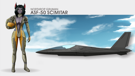 Sarhi and her ASF-50 Scimitar