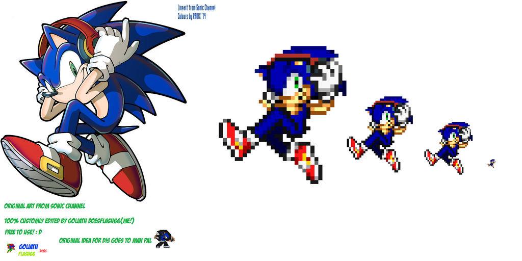 Sonic Custom Headphones Sprite Conversion By Goliathdoesflash66 On Deviantart