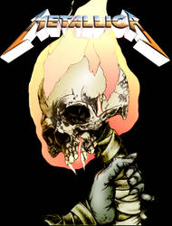 Skull Torch by Commodore-Sexy