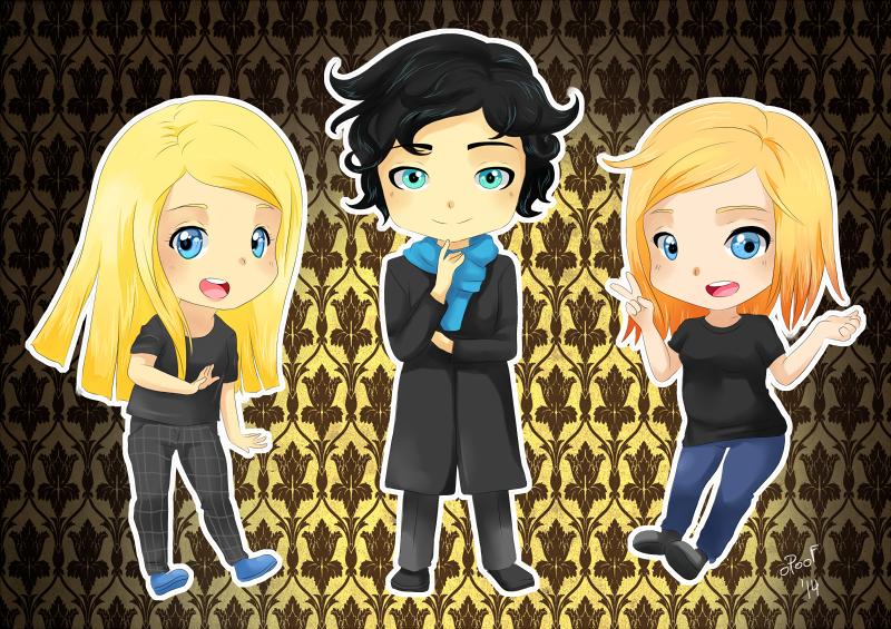 HBD Arania-chan! Team Sherlock. by oPoof