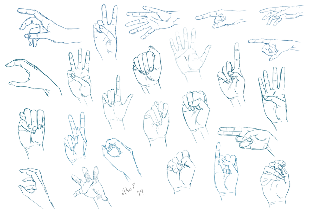 Hand Practise I by oPoof