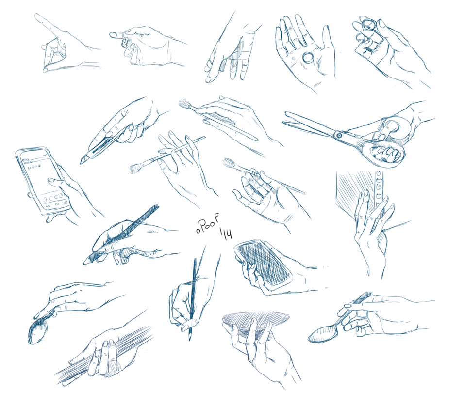 Hand Practise II by oPoof