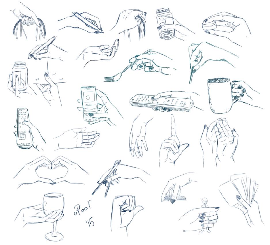 Hand Practise III by oPoof