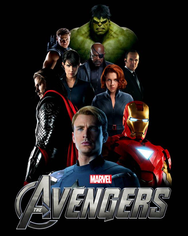 The Avengers Movie Portrait by batmanadik05