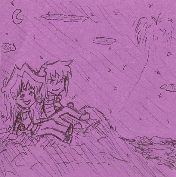 Watching Fireworks by InvdrDana