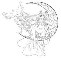 Sailor Cosmos Lineart by Hinderence