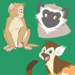 Monkeyyyss by ChikaPika