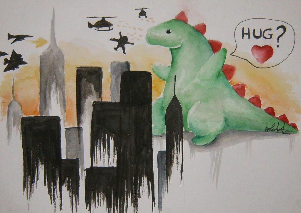 Godzilla by minihumanoid