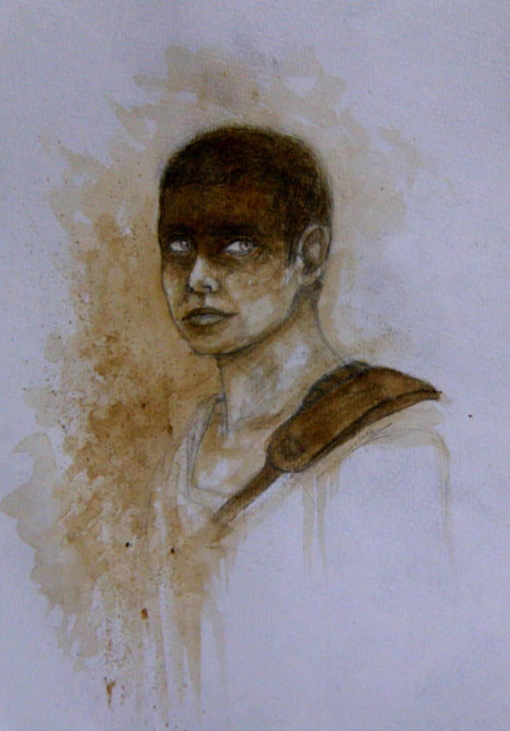 Furiosa (coffee painting) by minihumanoid