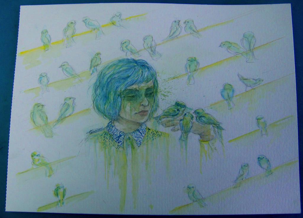 bird lady by minihumanoid