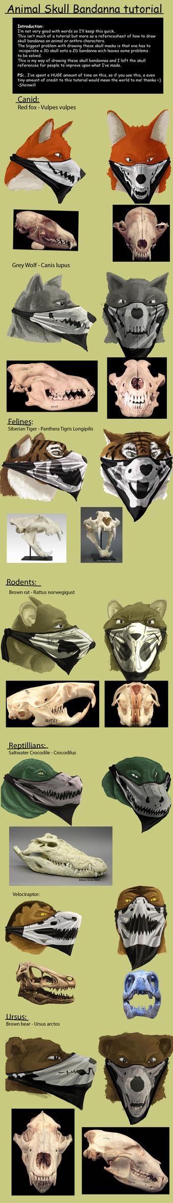 Anthro Skull Bandanna tutorial by SteinWill