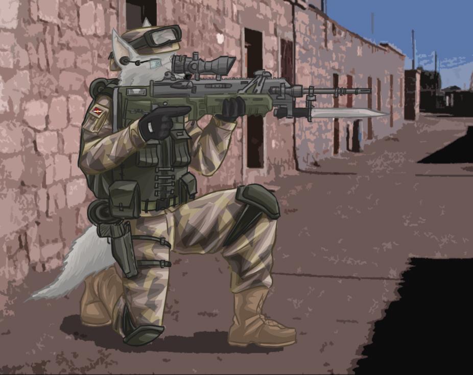 Callentine desert Infantry by SteinWill