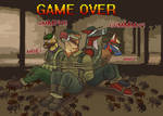 Game over by fuzzy eightlegged critters of DOOM