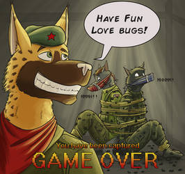 Game Over: bugs up the butt