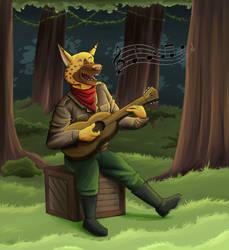 Roberto the singing guerrilla soldier