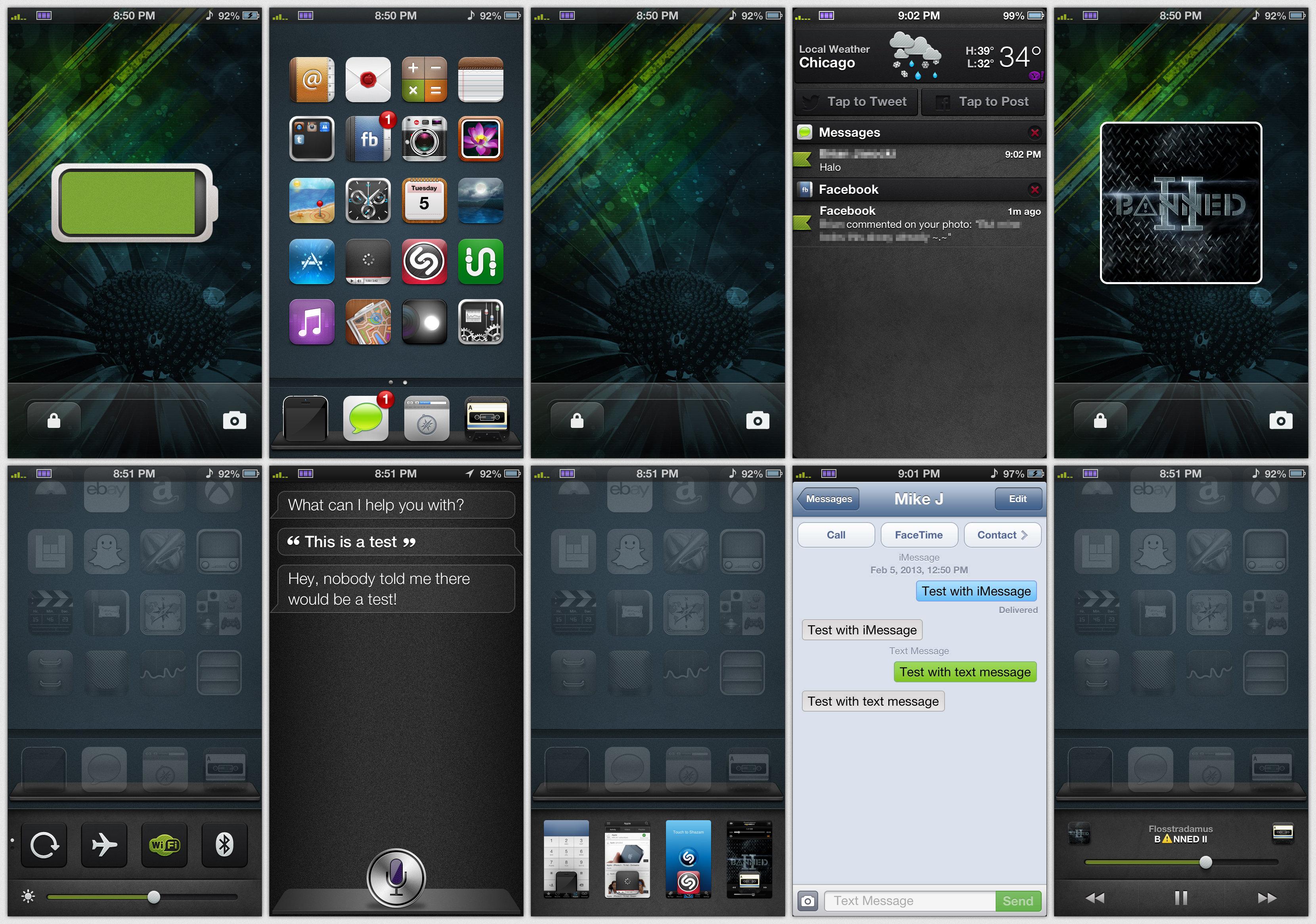screenshot on iphone 5