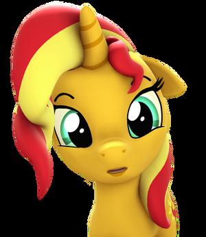 Bacon Horse Headshot