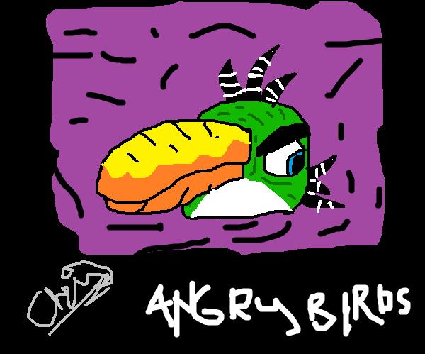 Angry Birds:Green Bird (Toucan Bird,Boomerang Bir) By