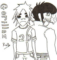 Fan-art Gorillaz by ReiDunamis