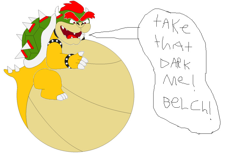 Bowser Ate Dark Bowser, read description by samus0suit
