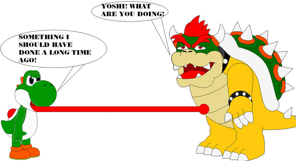Go Back  gt  Gallery For  gt  Yoshi And BowserYoshi And Bowser
