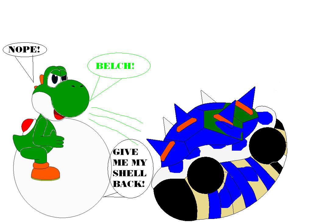 Yoshi Ate Bowser Part 4 by samus0suit