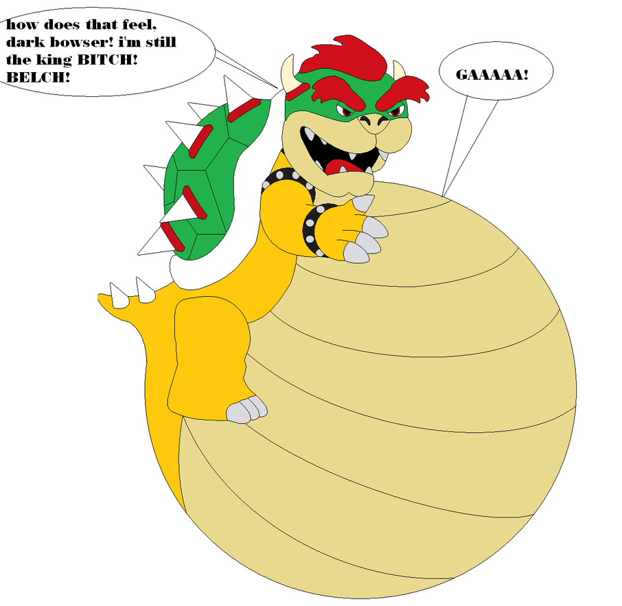 Bowser Ate Dark Bowser by samus0suit