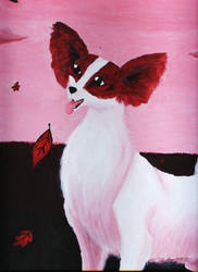 Papillon Painting by Sandy87