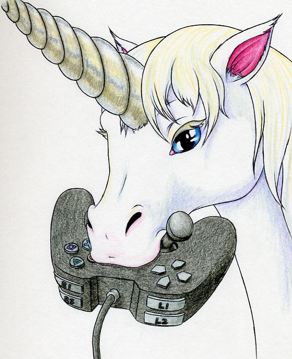 Girl Gamers are Unicorns by Sandy87