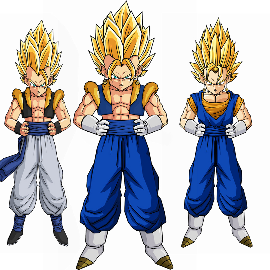 gogeta and vegito Fusion 1 by poseidon59 on DeviantArt