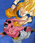 The Final Battle Begins Buu vs. Goku