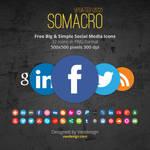 Somacro 32 300DPI Social Media Icons