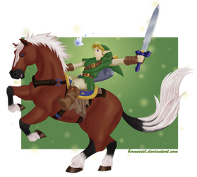 LoZ: The Hero of Time and his faithful steed