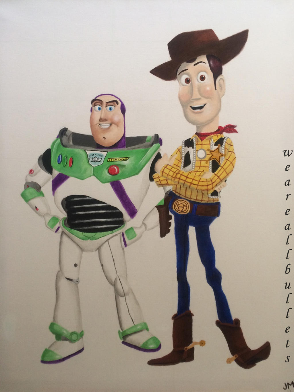 buzz lightyear and woody toy story by weareallbullets on