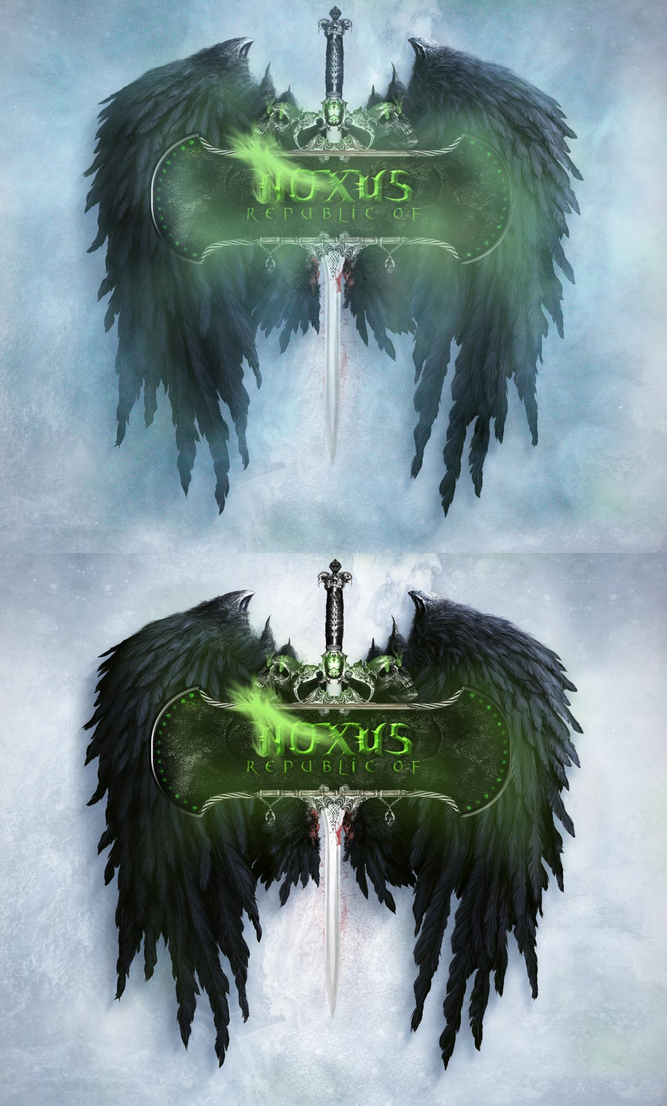 league of legends noxus logo   reupload green by alcedoarts-d4h8htj    League Of Legends Noxus Logo