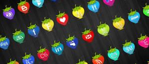 Strawberry Social Media Icons