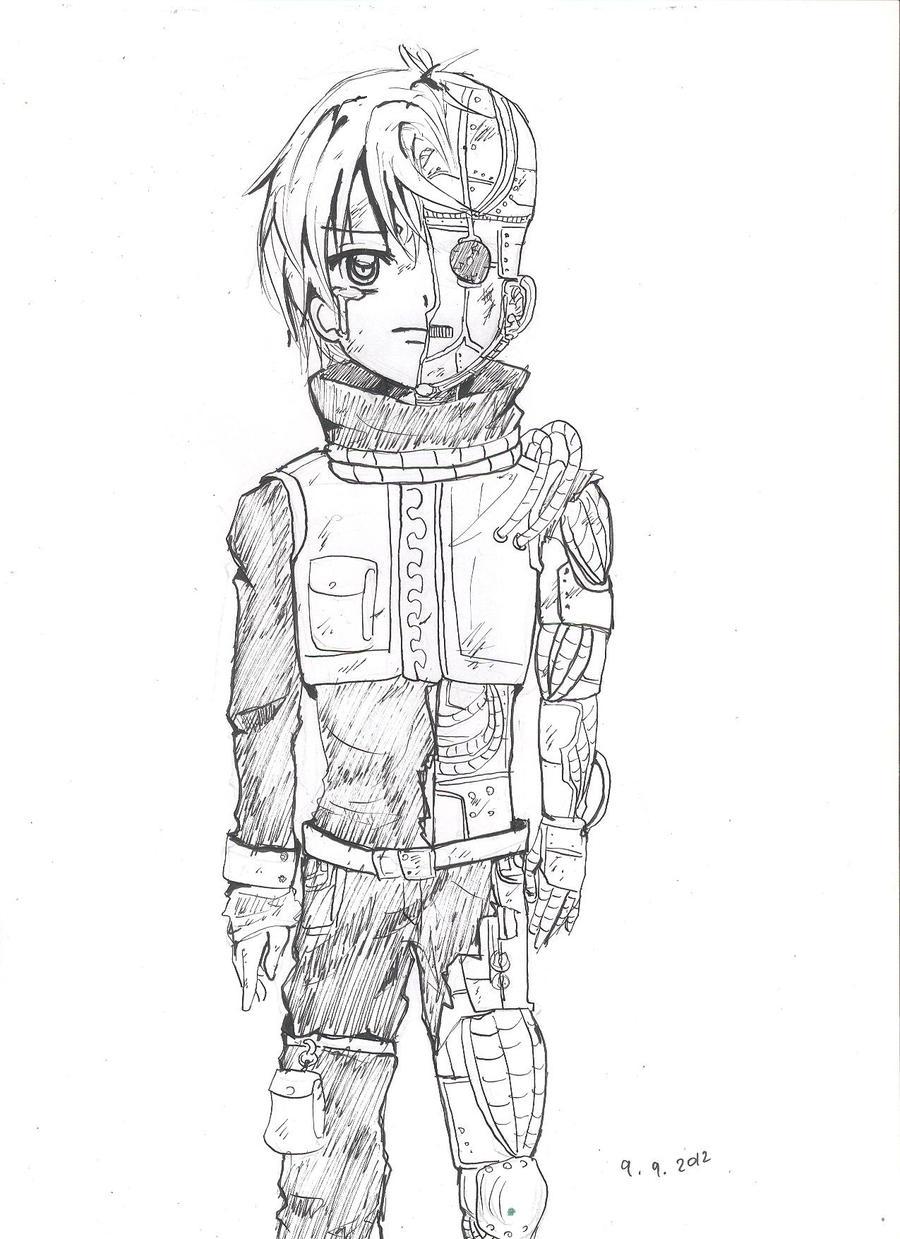 half boy half robot by luluChwan on DeviantArt