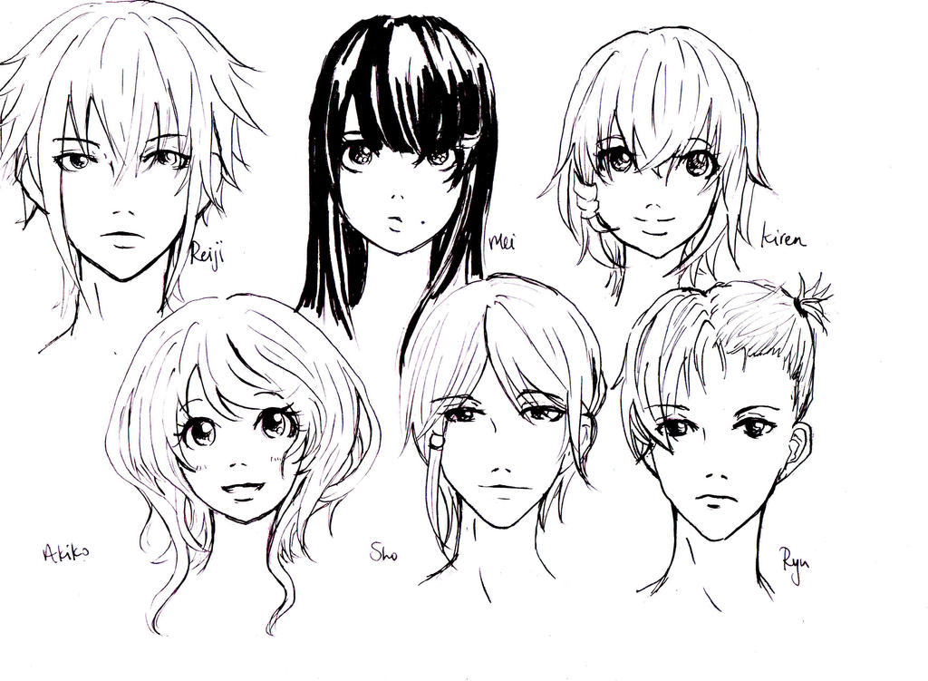 my own characters headshots by luluChwan