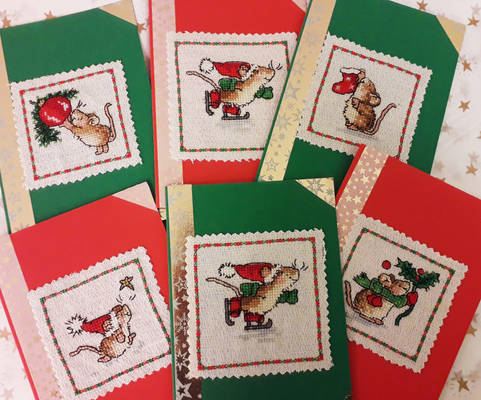 Mouse christmas cards 2