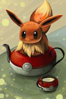 Eevee in a teapot by bertus-