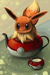 Eevee in a teapot